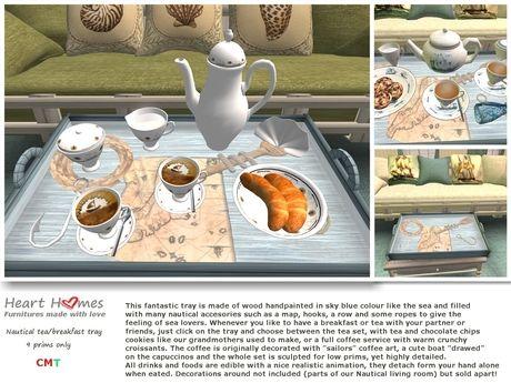 Heart Homes Furniture: Nautical Living - Tea & Breakfast Tray