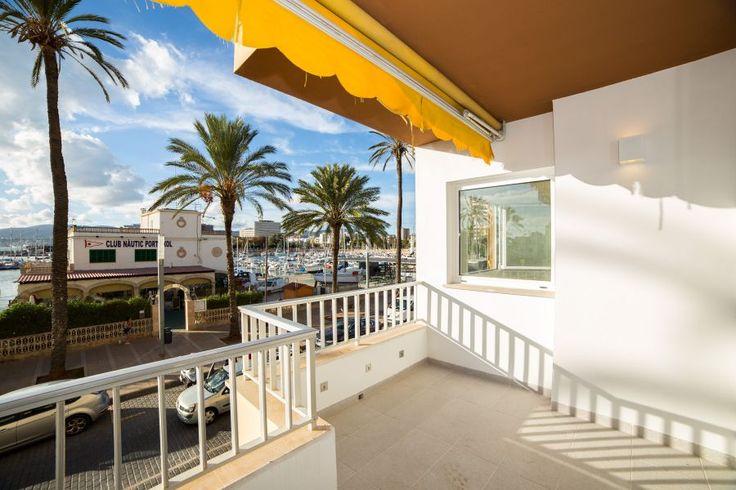 Portixol/ Es Molinar, Palma de Mallorca: First line apartment in Portixol. 2 bedrooms, 2 bathrooms, 1800 €/ month. Apartment renovated to a high standard.