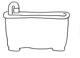 coloring pages bathtubs - photo#12