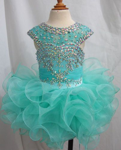 Custom-Made-Infant-toddler-baby-children-kids-Girls-Cupcake-Pageant-Dress-2016