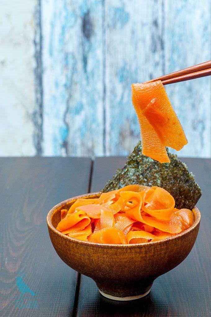 """Vegan smoked """"salmon"""" #vegan #carrot"""