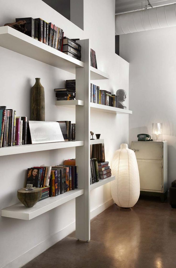 This shelving unit is an Ikea hack, a replica of the company's popular Lack shelf, except with some clever edits to make this piece hold more weight.