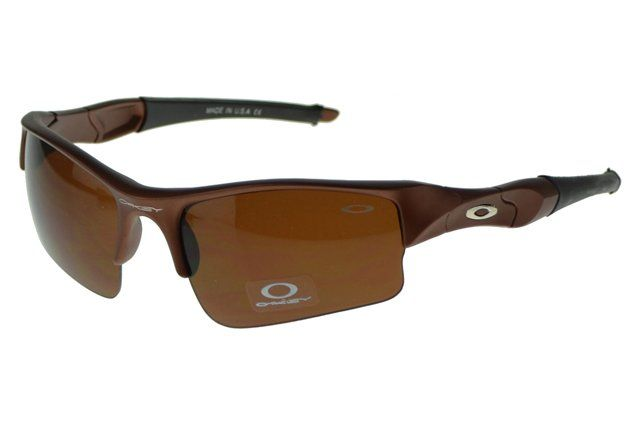 Wholesale Cheap Oakley Flak Jacket Sunglasses Red Frame Brown Lens#Oakley Sunglasses
