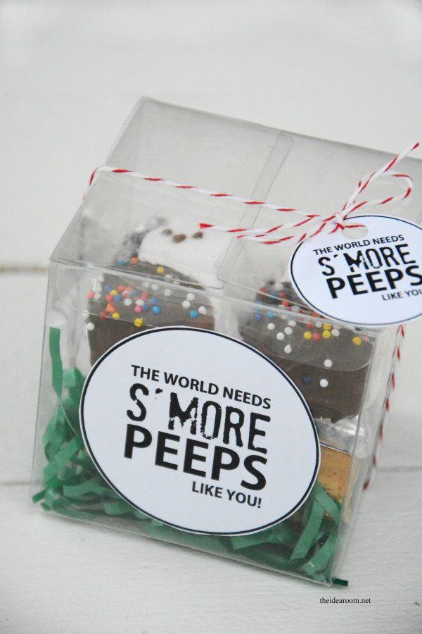 Easter Peeps S'more Treat Gift Idea | theidearoom.net