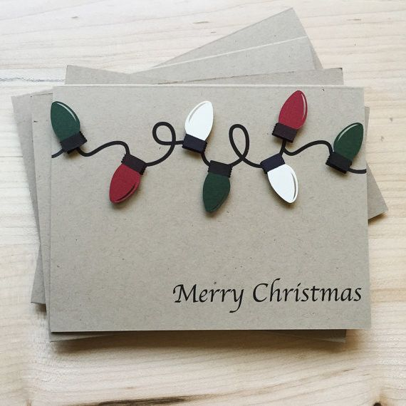 Stock up on this simple, unique set of Christmas light cards. These are perfect to give out to everyone on your list this year. Make sure your holiday cards stand out from the rest this season. THE DE