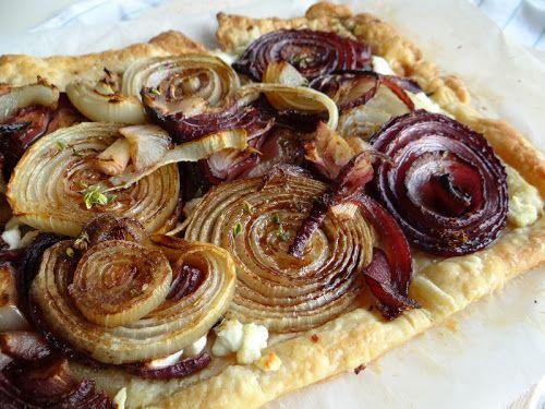 Roasted onion tart