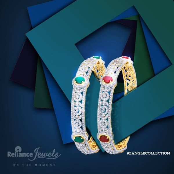 #BANGLECOLLECTION  May cause envy.  Reliance Jewels Be The Moment. www.reliancejewels.com