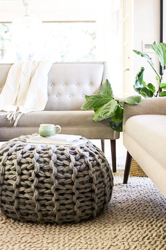 Fabulous Floor Pouf Pattern | Tejido | Pinterest | Trapillo, Croché ...