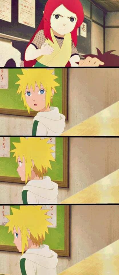 Minato and Kushina. So cute. WHEN I SAW THIS IN THE XBOX I CRIED BECAUSE HOW CAN YOU NOT.