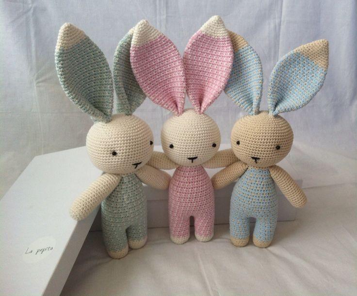Amigurumi Bunny Rabbit @La_pepita_baby http://instagram.com/la_pepita_baby #toy…