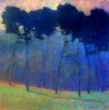 "Ken Elliott ""Soft Blue Progressions"" giclee from pastel original"
