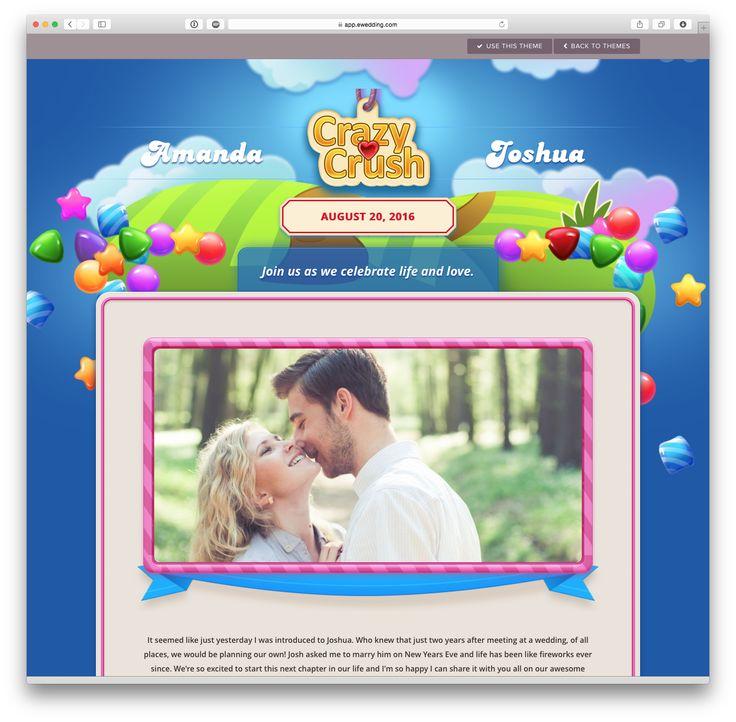 'Candy' wedding website theme at eWedding.com