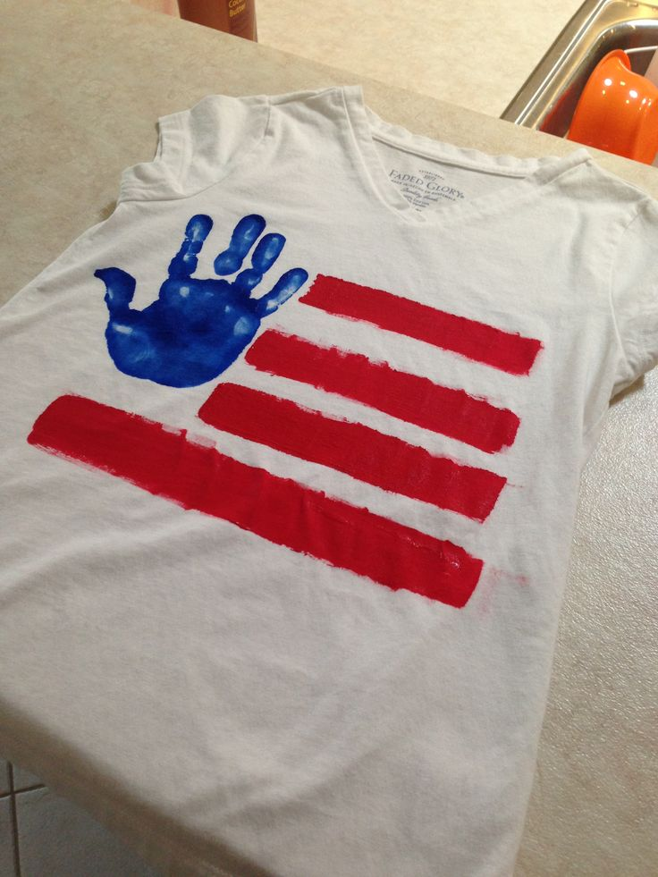 July Fourth handprint T-Shirts! FREEDOM. I made a heart instead of a hand print and made a matching onesie with skirt for my daughter.