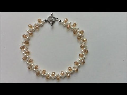 DIY Wedding Jewelry Inspiration. How to make easy pearl necklace and bracelet set - YouTube