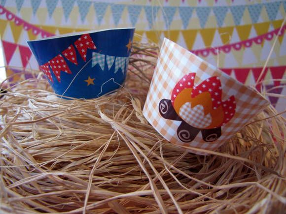 Porta cupcakes Kit Festa junina   Design Festeiro
