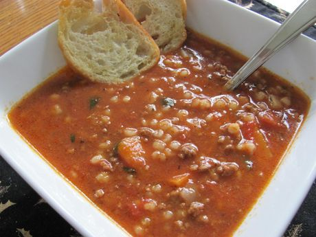 Best of Bridge Hamburger Soup. Now I will always have the recipe at my finger tips! SO good!