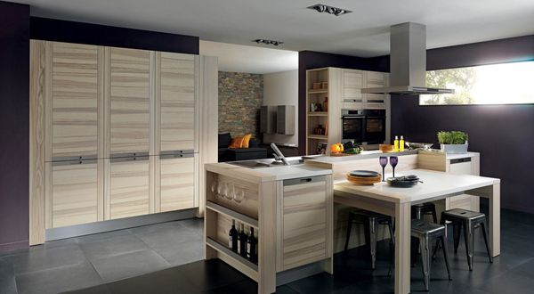 Artistic kitchen design comes from Arthur Bonnet. Contemporary kitchen design that provide functional benefits and still presents a visual beauty that reflects the tranquility. This is the Attitude Kitchen that designed by Marc Moreau for French kitchen manufacturer, Arthur Bonnet. Contemporary kitchen design that using natural elements as the mixture is poured into the traditional furniture style such as desks and cabinets.