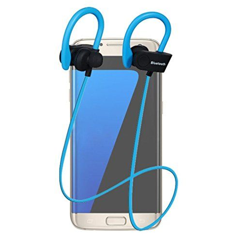 Sport Headphones TOOPOOT Wireless Bluetooth InEar Sports Stereo Earphone For SmartPhone blue *** BEST VALUE BUY on Amazon