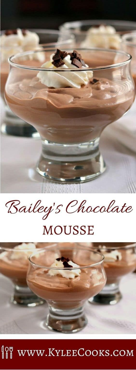 Need a really easy, really tasty and impressive dessert for a special occasion (a Tuesday night totally counts)? How about this Bailey's Chocolate Mousse?  It's creamy, decadent, rich and it ABSOLUTELY hits the spot after dinner. via @kyleecooks