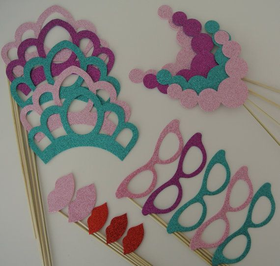 Princess Party Props Mustache on a Stick Wedding Photo Booth Party Props Special…