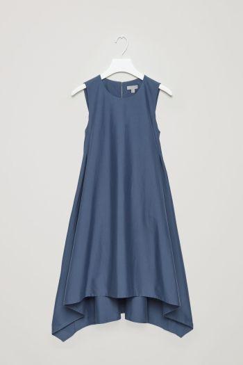 COS image 2 of Sleeveless drape dress in Slate Blue
