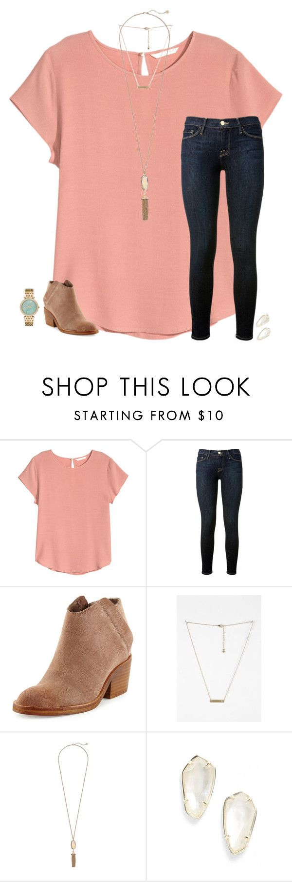 """more soccer today"" by secfashion13 ❤ liked on Polyvore featuring H&M, Frame Denim, Dolce Vita, Kendra Scott and Michael Kors"
