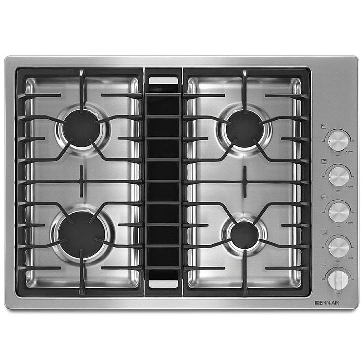 """Jenn Air Stove >> Jenn-Air JGD3430BS 30"""" JX3 Downdraft Gas Cooktop - Stainless Steel 