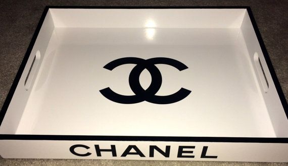 Large Chanel White Lacquer Serving Tray Replica Chanel