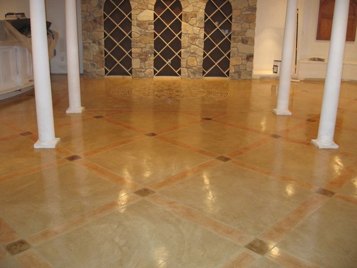 161 best fabulous flooring images on pinterest floors for Concrete floor covering ideas