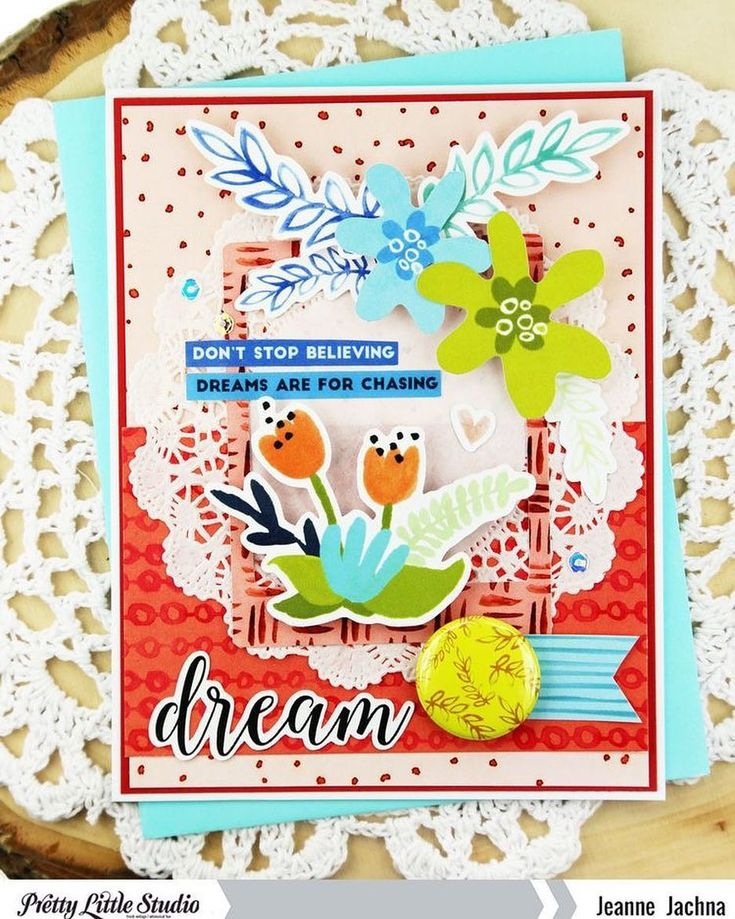 """35 Likes, 1 Comments - Pretty Little Studio (@prettylittlestudio) on Instagram: """"Check out the beautiful card that designer @jeannejachna made with the Tales & Dreams collection! .…"""""""