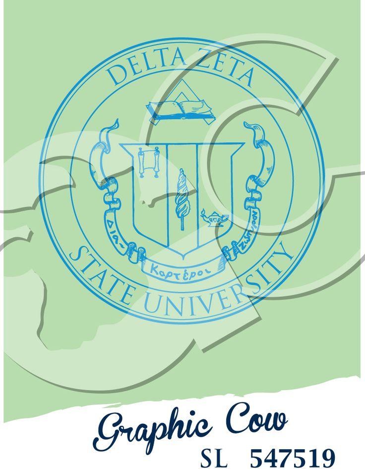 Delta Zeta Greek crest #grafcow