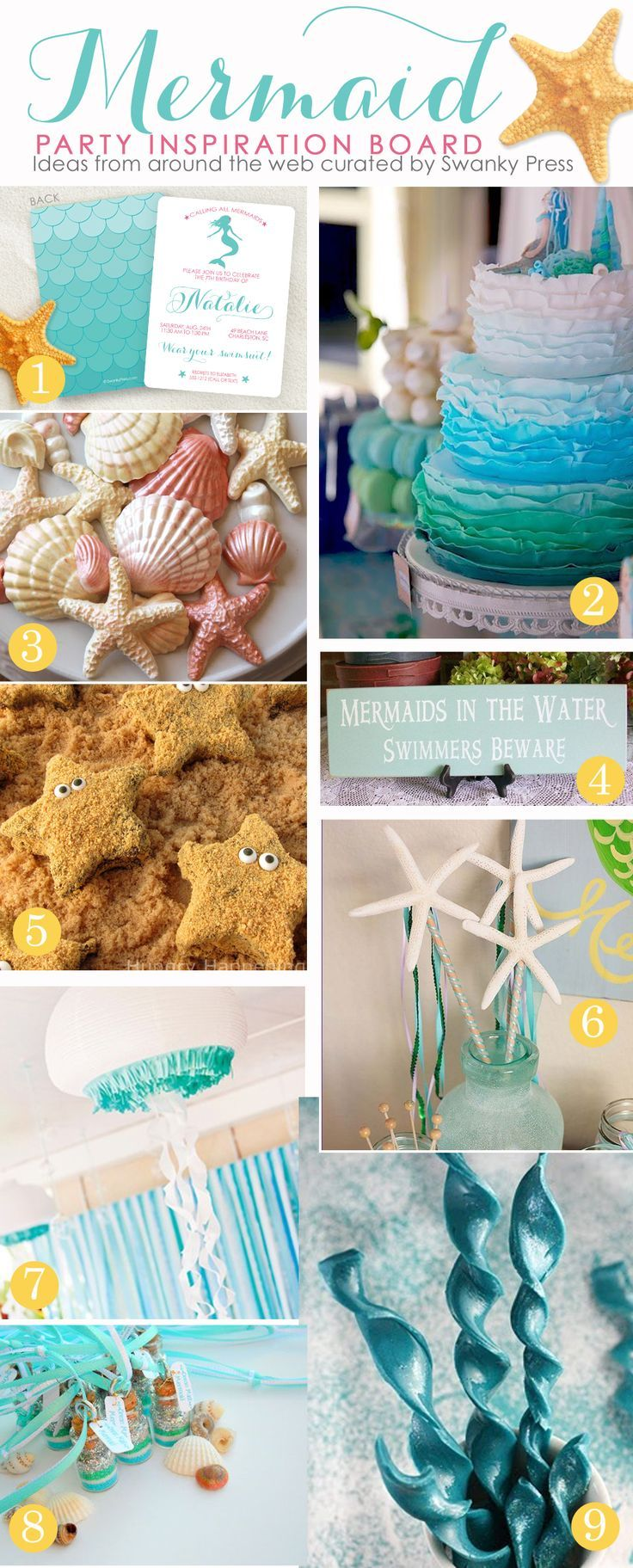 Mermaid party inspiration board.