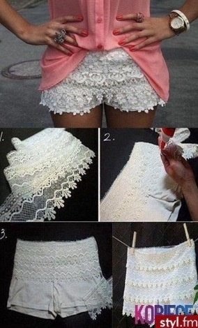 DIY shorts ~ seems really easy. I just need to find plain white shorts!
