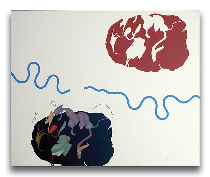 Eclissi, acrilici su tela, cm 90x110, 1988