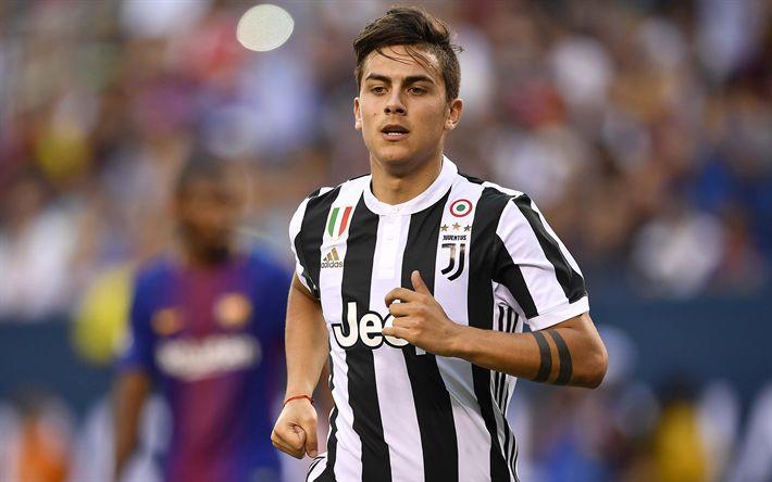 Download Wallpapers Paulo Dybala Blur Juventus 4k Football