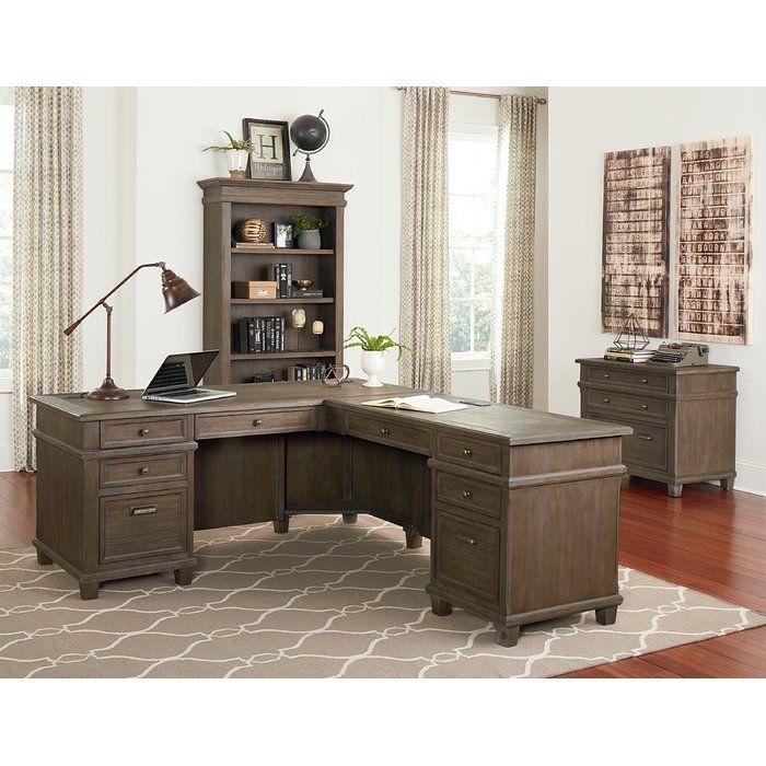 Larissa Solid Wood L Shape Executive Desk L Shaped Executive