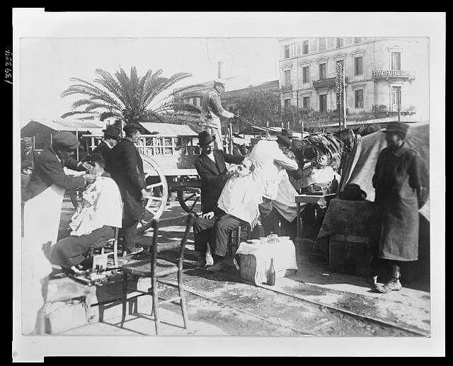 1922 πρόσφυγες κουρείς στον Πειραια