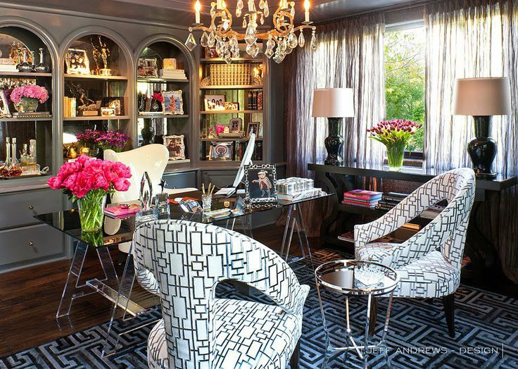 Kris Jenner's office designed by Jeff Andrews