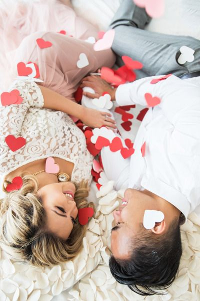 Valentine's Day engagement inspiration: http://www.stylemepretty.com/california-weddings/los-angeles/2015/05/13/romantic-valentines-day-inspired-engagement-session/   Photography: Kim Le - http://www.kimlephotography.com/