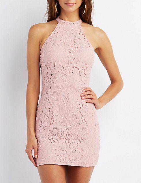 Floral Lace Bodycon Dress $32.99