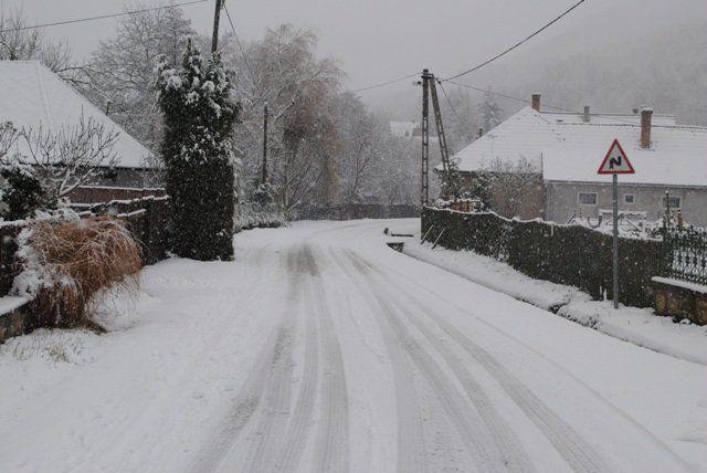 Snowy village - Zemplén, Hungary