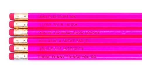 Reasons I Love You Neon Pink Pencil Set (http://www.wordon.com.au/products/pink-reasons-i-love-you-pencil-set.html)