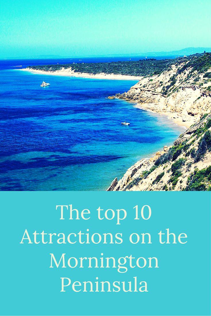 Top Ten attractions on Mornington Peninsula in Victoria, Australia.