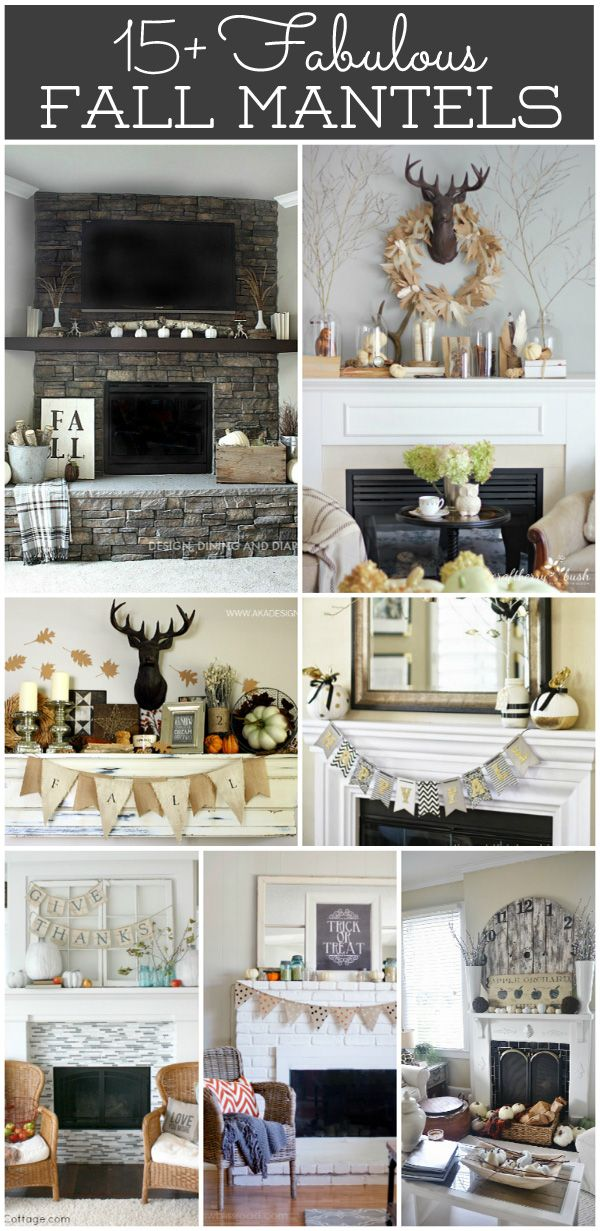 15+ Fabulous Fall Mantels to inspire you to decorate your home for fall.