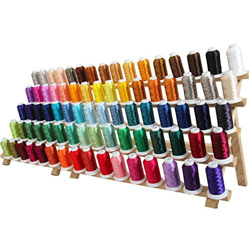 Machine embroidery thread set colors of polyester on