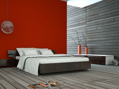 Modern bedroom photo idea with simple natural elements.