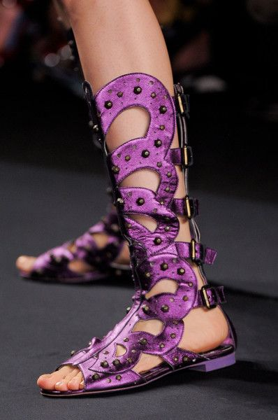 Anna Sui Spring 2014 RTW. Bohemian rhapsody in a sandle boot!