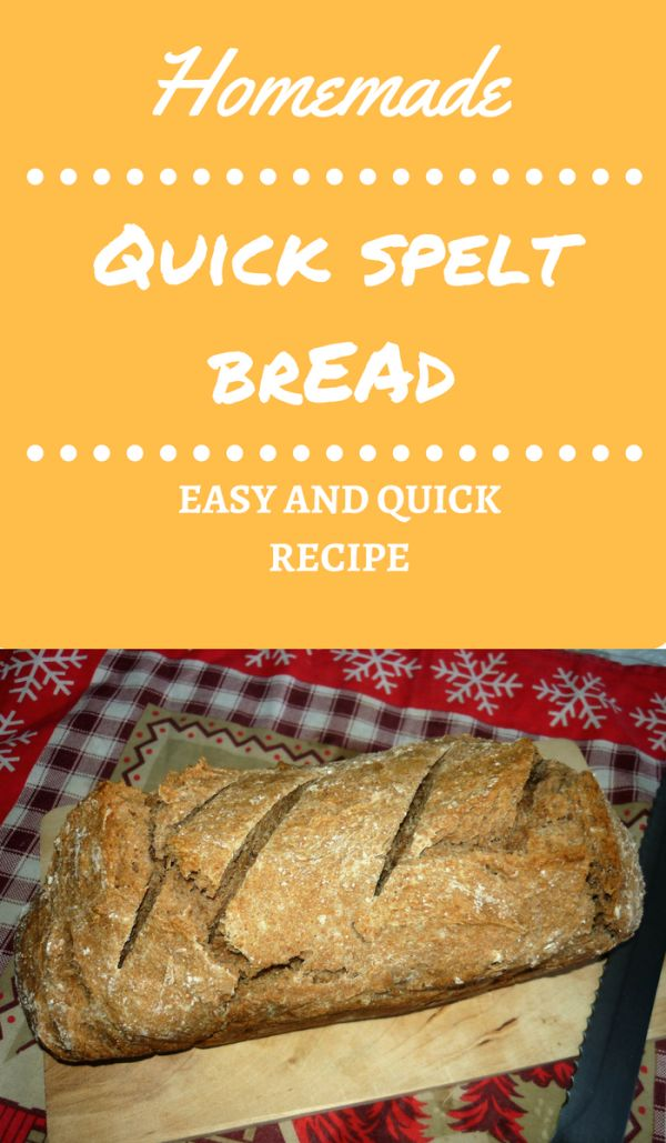 Quick homemade spelt bread | Do you love the smell of fresh baked bread? If it is so, then it's time to start to bake your own bread at home! With this easy and quick recipe it's very simple! Use this bread for breakfast or serve it with stews and soups! Ingredients: spelt flour, yeast, water, salt.