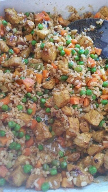 Michelle bridges 12wbt satay pork and fried rice