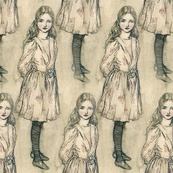 Alice - spoonflowerPeacoquett Design, Custom Fabrics, Bespoke Fabrics, Alice Wallpapers, Gift Wraps, Wall Decal, Fabrics Wallpapers, Alice Fabrics, Sell Design